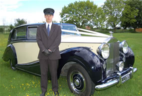 Rolls Royce Silver Wraith with chauffeur