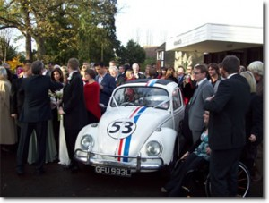 Herbie at the wedding
