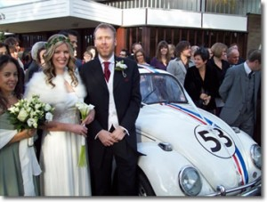 Herbie and bride and groom