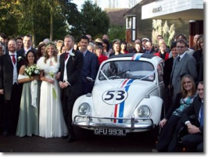 Herbie with wedding party